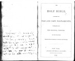 George W. Daniels Family Bible
